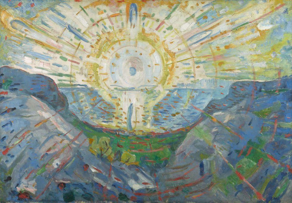 Edvard Munch, Die Sonne, 1912, Öl auf Leinwand, 123 x 176,5 cm (Munchmuseet, Oslo, Foto: © Kunstsammlung NRW)