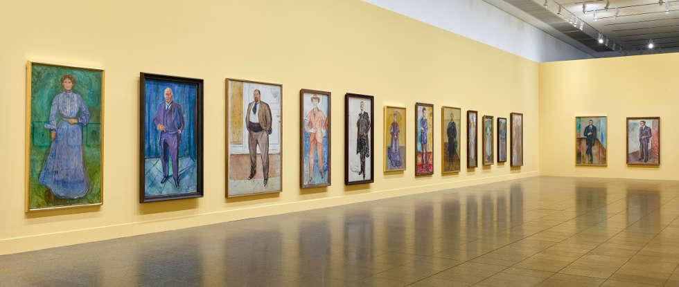 Edvard Munch, Porträts, Edvard Munch – gesehen von Karl Ove Knausgård, Ausstellungsansicht, K20, Kunstsammlung Nordrhein-Westfalen 2019, Foto: ©: Achim Kukulies, Düsseldorf