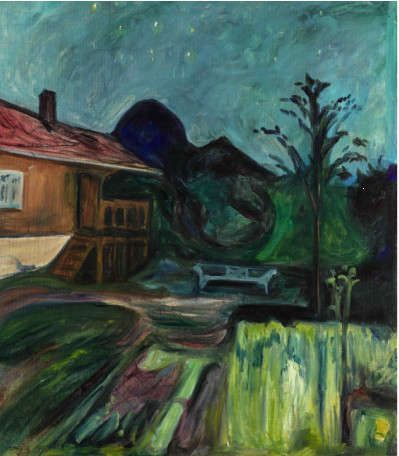 Edvard Munch, Sommernatt (Sommernacht), 1902, Öl/Lw, 115.5 x 101.5 cm (Privatbesitz)