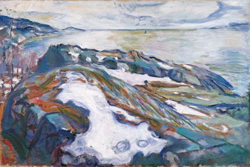 Edvard Munch, Winterlandschaft, 1915 (ALBERTINA, Wien – Sammlung Batliner © ALBERTINA, Wien)
