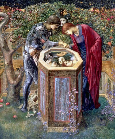 Edward Burne-Jones, Perseus-Zyklus: The Baleful Head [Das Schreckenshaupt], 1885, Gouache/Papier, 153 x 129 cm (Southampton City Art Gallery)