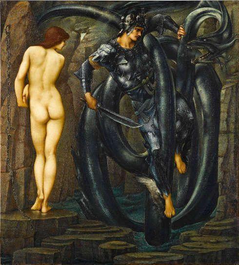 Edward Burne-Jones, Perseus-Zyklus: The Doom Fulfilled [Die Erfüllung des Schicksals], 1888, Öl/Lw, 155 x 140 cm (Staatsgalerie, Stuttgart)