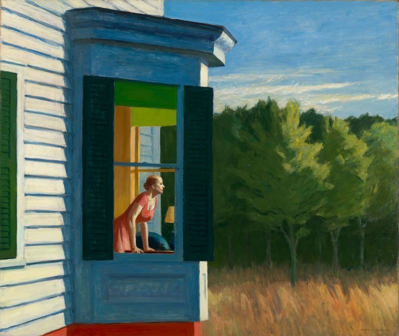 Edward Hopper, Cape Cod Morning, 1950, Öl auf Leinwand, 86.7 x 102.3 cm (Smithsonian American Art Museum, Gift of the Sara Roby Foundation © Heirs of Josephine Hopper / 2019, ProLitteris, Zürich, Foto: Smithsonian American Art Museum, Gene Young)