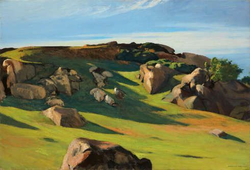 Edward Hopper, Cape Ann Granite, 1928, Öl auf Leinwand, 73.5 x 102.3 cm (Privatsammlung, © Heirs of Josephine Hopper / 2019, ProLitteris, Zürich)