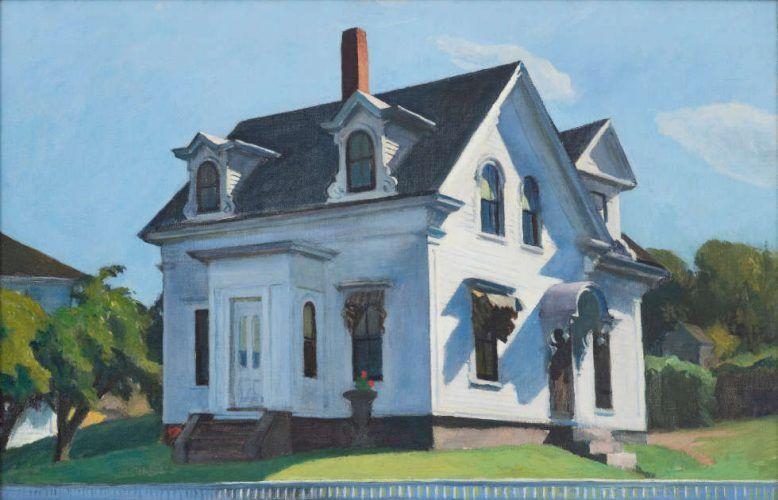 Edward Hopper, Hodgkin's House, Detail, 1928, Öl/Lw (Privatsammlung)