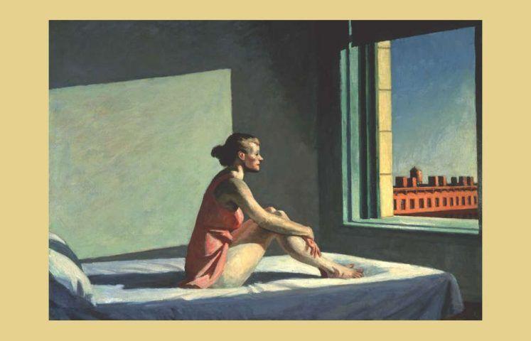 Edward Hopper, Morning Sun, 1952, Öl/Lw, 71 x 102 cm (Columbus Museum of Art, Ohio: Museum Purchase, Howald Fund)