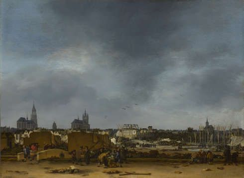 Egbert van der Poel, Blick auf Delft nach der Explosion von 1654, 1654, Öl auf Eichenholz, 36,2 x 49,5 cm (© The National Gallery, London, John Henderson Bequest, 1879)