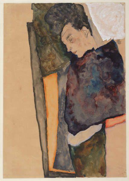 Egon Schiele, Die Mutter des Künstlers schlafend, 1911 (© Albertina, Wien)
