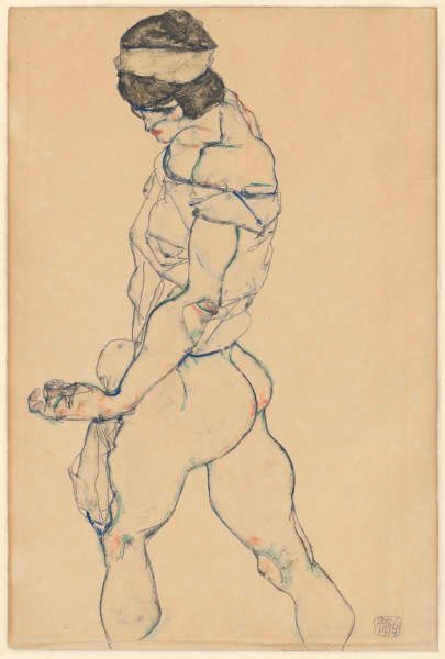 Egon Schiele, Die Schreitende, 1914 (© Albertina, Wien)