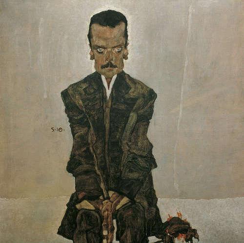 Egon Schiele, Eduard Kosmack, 1910, Öl auf Leinwand, 99,8 x 99,5 cm (© Belvedere, Wien)