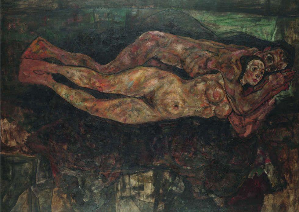 Egon Schiele, Liebespaar, 1918 (unvollendet), Öl/Lw, 155 x 210 cm (Leopold, Privatsammlung)