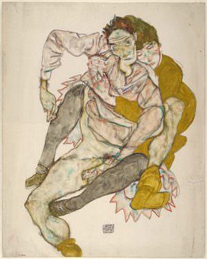 Egon Schiele, Sitzendes Paar, 1915 (© Albertina, Wien)