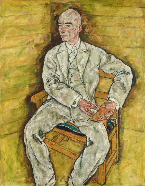 Egon Schiele, Victor Ritter von Bauer, 1918, Öl auf Leinwand 140,6 x 109,8 cm (© Belvedere Wien)