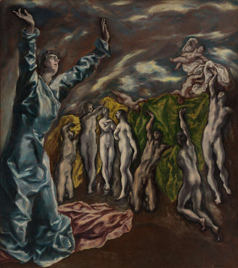 El Greco, Die Öffnung des fünften Siegels der Apokalypse oder Die Vision des Heiligen Johannes, 1610–1614, 222,3 × 193 cm (New York, The Metropolitan Museum of Art; Rogers Fund, 1956 © Photo (C) The Metropolitan Museum of Art, Dist.)