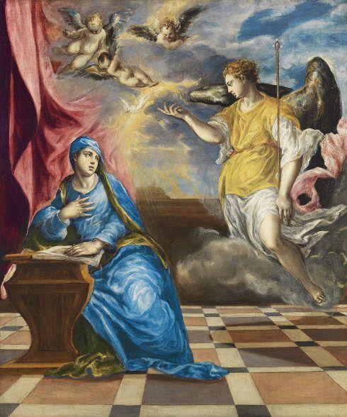 El Greco, Die Verkündigung, um 1576, Öl/Lw, 117 x 98 cm (Museo Nacional Thyssen-Bornemisza, Madrid)