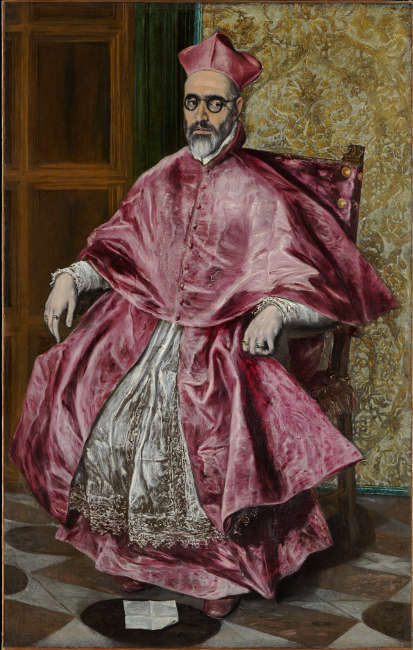 El Greco, Porträt des Kardinals Niño de Guevara, um 1600, Öl/Lw, 171 × 108 cm (New York, The Metropolitan Museum of Art H. O. Havemeyer Collection, legs de Mrs. H. O. Havemeyer, 1929 © the MET)