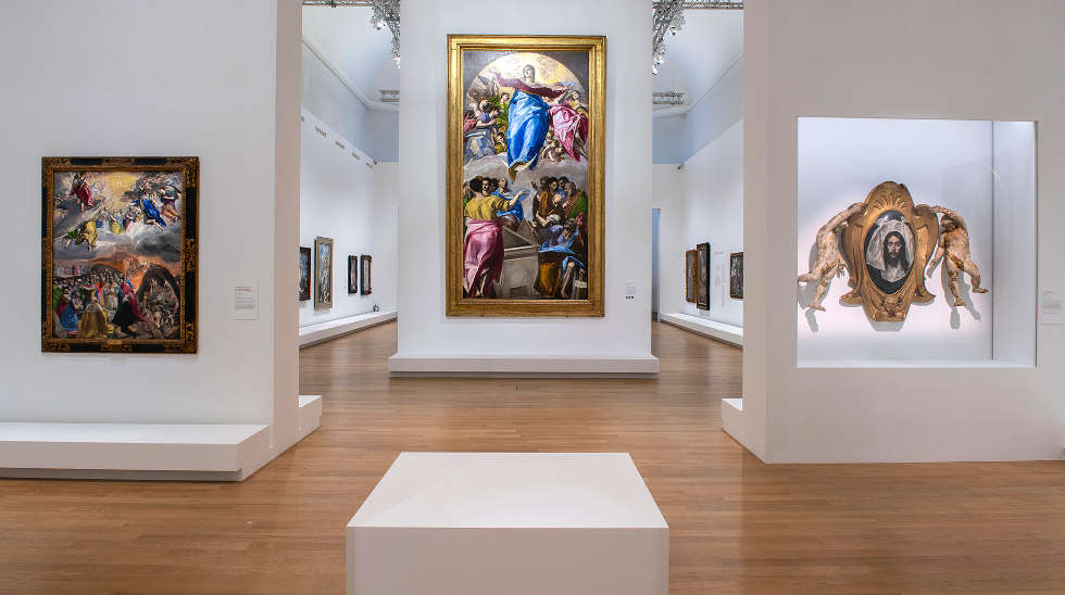 El Greco im Grand Palais in Paris, Ausstellungsarchitektur Véronique Dollfus © Rmn-Grand Palais 2019 / Photo Didier Plowy