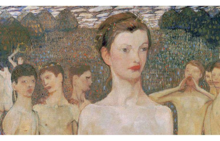 Elena Luksch-Makowsky, Adolescentia, Detail, 1903, Öl/Lw, 171 x 78 cm (© Belvedere, Wien)