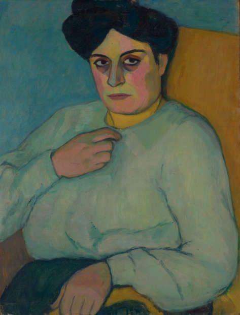 Elisabeth Epstein, Selbstportrait, 1911 (Städtische Galerie im Lenbachhaus und Kunstbau München, erworben 2019, im Andenken an Jerome Pustilnik, New York City, © Rechtsnachfolge der Künstlerin)