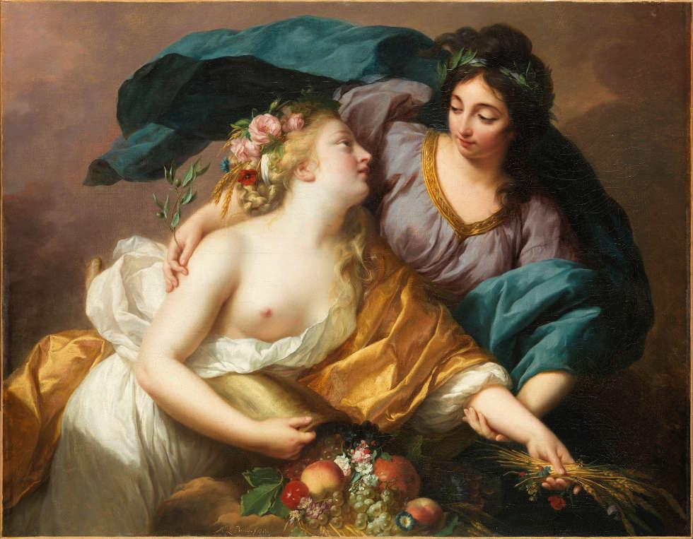 Elisabeth Louise Vigée Le Brun, Friede bringt Überfluss, 1780, Öl/Lw, 102,5 x 132,5 (Paris, Musée du Louvre, Département des Peintures)