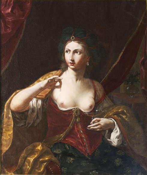 Elisabetta Sirani, Kleopatra, um 1664, Öl/Lw, 110 x 91 cm (Privatsammlung)