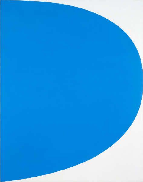 Ellsworth Kelly, Blue Curve [Blaue Kurve], 1964, Öl auf Leinwand, 107 x 84 cm (mumok Museum moderner Kunst Stiftung Ludwig Wien, Leihgabe der Österreichischen Ludwig-Stiftung, seit 1981 © Photo: mumok)