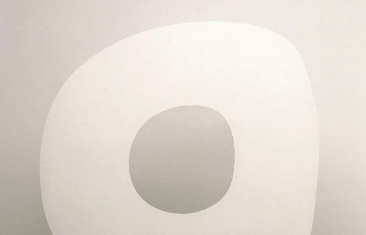 Ellswoth Kelly, White Ring, Detail, 1963, bemaltes Aluminium (© Ellsworth Kelly Foundation, Spencertown)