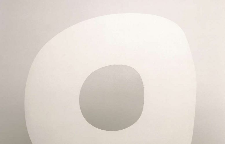 Ellswoth Kelly, White Ring, Detail, 1963, bemaltes Aluminium (© Ellsworth Kelly Foundation, Spencertown)