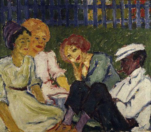 Emil Nolde, Feriengäste, 1911, Öl/Lw, 87 x 101 cm (© Nolde Stiftung Seebüll (© Brücke-Museum Berlin, Foto: Roman März)