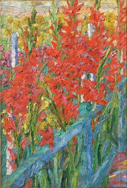 Emil Nolde, Schwertlilien, 1907, Öl auf Leinwand, 77 x 52 cm (Privatsammlung © Nolde Stiftung Seebüll. Copyright Scan: Recom Art, Berlin)