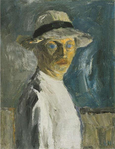 Emil Nolde, Selbstbild, 1917, Öl/Sperrholzplatte, 83.5 x 65cm (© Nolde Stiftung Seebüll)
