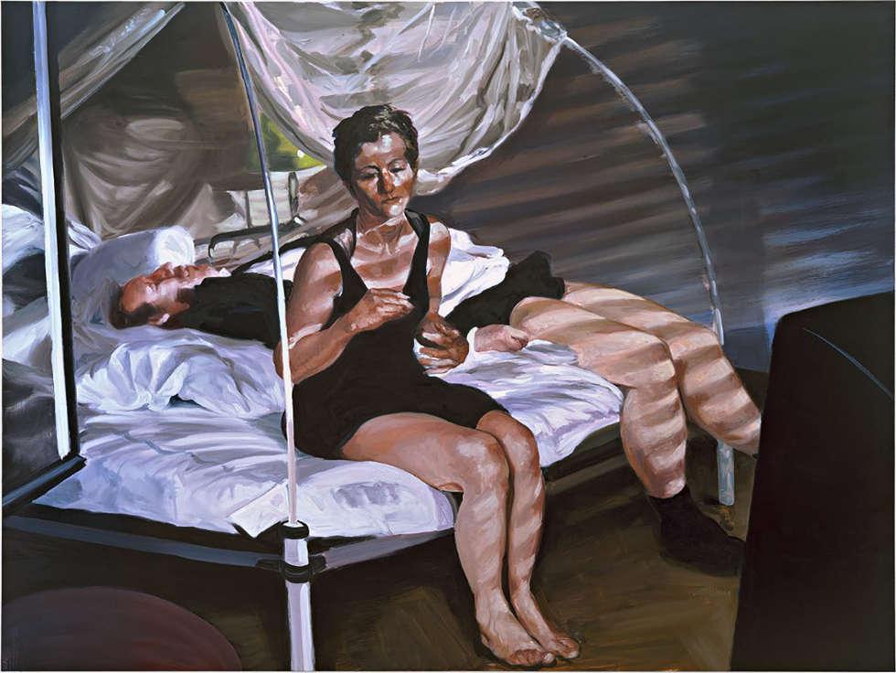 Eric Fischl, The Krefeld Project: The Bedroom. Scene 1, 2002, Öl auf Leinwand (ALBERTINA, Wien – The JABLONKA Collection © Eric Fischl / Bildrecht, Wien, 2019)