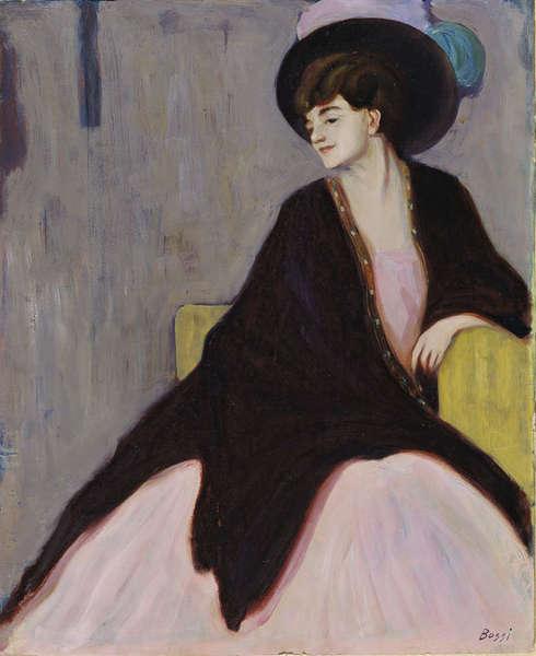 Erma Bossi, Porträt von Marianne Werefkin, 1910, Öl/Holz, 71.6 x 58 cm (Gabriele Munter- und Johannes Eichner-Stiftung, München © The estate of Erma Bossi)