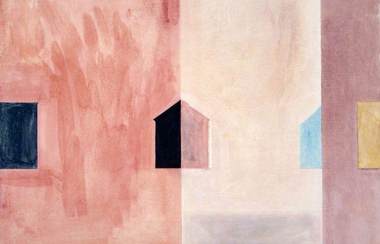Ernst Caramelle, Anschnitt, 1984, Gesso, Aquarell auf Karton, 51 x 60 cm (© Ernst Caramelle)