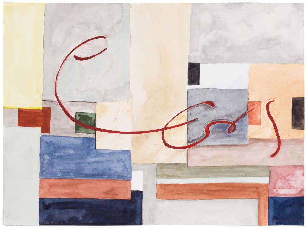 Ernst Caramelle, signature work, 2013, Aquarell auf Papier, 23 x 31 cm (Courtesy Galerie nächst St. Stephan Rosemarie Schwarzwälder, Wien © Photo: Markus Wörgötter © Ernst Caramelle)