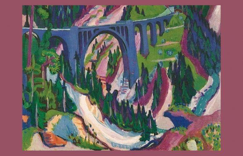 Ernst Ludwig Kirchner, Die Brücke bei Wiesn, 1926