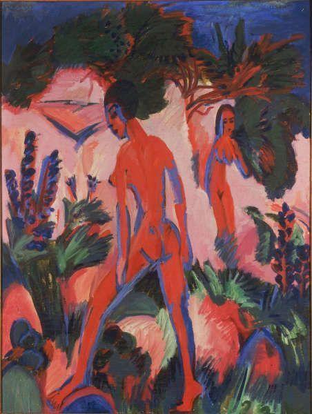 Ernst Ludwig Kirchner, Rote Akte, 1912, Öl auf Leinwand, 120 x 90 cm (Courtesy Heidi Horten Collection)