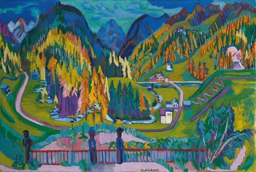 Ernst Ludwig Kirchner, Sertigtal im Herbst, 1925–1926, Öl/Lw, 136 x 200 cm (© Kirchner Museum Davos, Foto: Kirchner Museum Davos, Jakob Jägli)