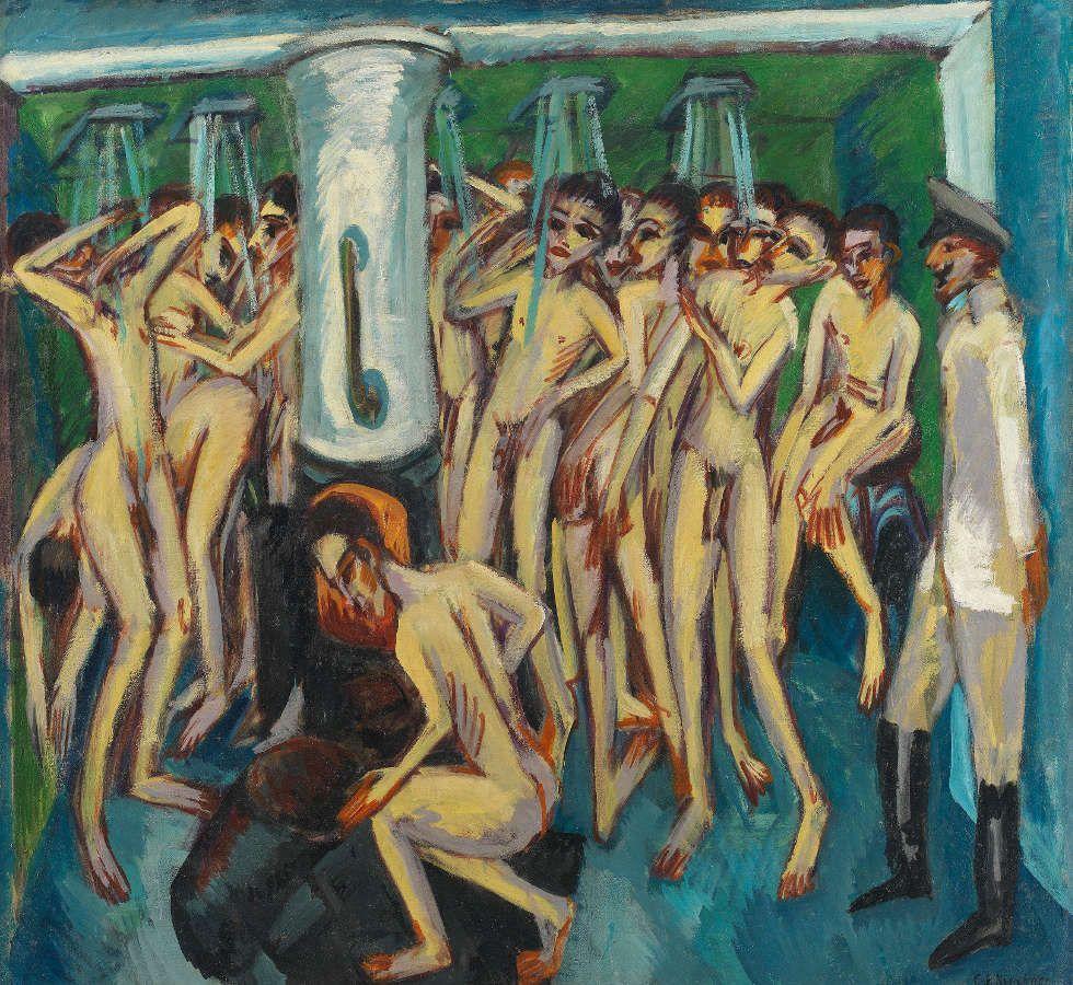 Ernst Ludwig Kirchner, Das Soldatenbad, 1915, Öl/Lw, 140 x 150 cm (Nationalmuseum, Oslo)