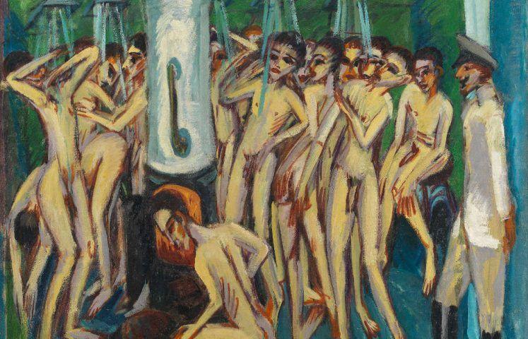 Ernst Ludwig Kirchner, Das Soldatenbad, Detail, 1915, Öl/Lw, 140 x 150 cm (Nationalmuseum, Oslo)