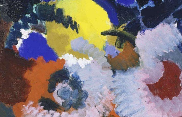 Ernst Wilhelm Nay, Akkord in Rot und Blau, 1958 (Hamburger Kunsthalle, Foto: Elke Walford)