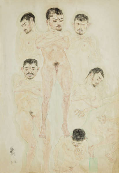 Erwin Dominik Osen, Patientenportrait, 1915 © Privatbesitz