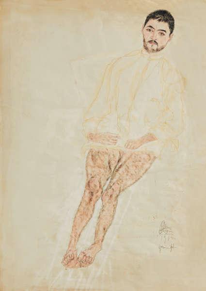 Erwin Dominik Osen, Patientenportrait (2), 1915 © Privatbesitz