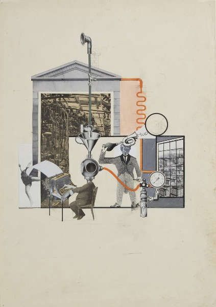 Erwin Wendt, Hup, 1928, Collage, 50 × 35,1 cm (Kunstpalast, Düsseldorf, © Nachlass Erwin Wendt, Foto: Kunstpalast - Horst Kolberg – ARTOTHEK)