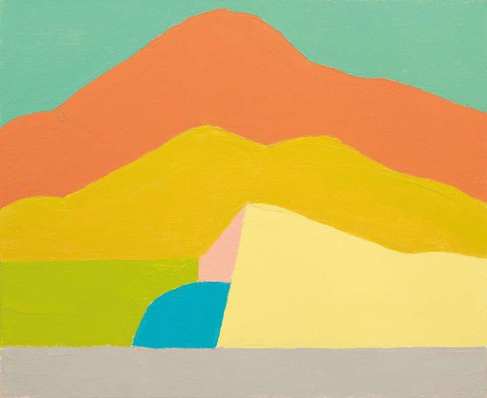 Etel Adnan, Ohne Titel, 2015, Öl/Lw, 38 x 46 cm (© Etel Adnan-Courtesy Galerie Lelong, Paris)