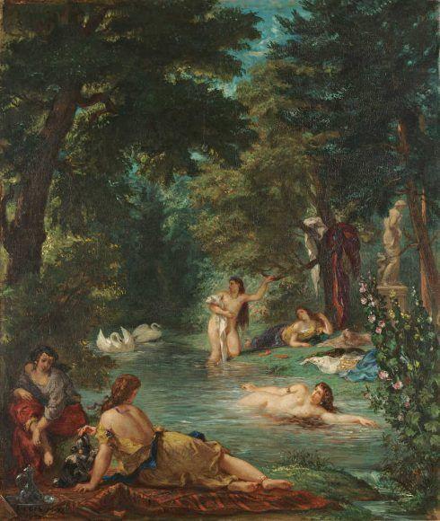 Eugène Delacroix, Badende, 1854, Öl/Lw, 92.7 x 77.5 cm (© Wadsworth Atheneum Museum of Art, Hartford, Connecticut, The Ella Gallup Sumner and Mary Catlin Sumner Collection Fund, 1952.300)