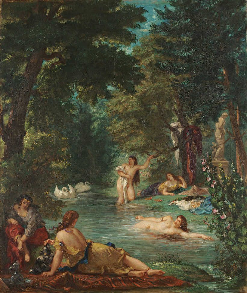Eugène Delacroix, Badende / Bathers, 1854, Öl auf Leinwand / Oil on canvas, 92.7 x 77.5 cm © Wadsworth Atheneum Museum of Art, Hartford, Connecticut, The Ella Gallup Sumner and Mary Catlin Sumner Collection Fund, 1952.300.