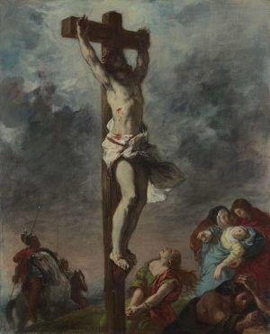 Eugène Delacroix, Christus am Kreuz / Christ on the Cross, 1853, Öl auf Leinwand / Oil on canvas, 73,3 x 59,7 cm © The National Gallery, London (NG 6433).