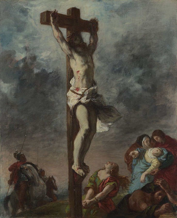 Eugène Delacroix, Christus am Kreuz, 1853, Öl/Lw, 73,3 x 59,7 cm (© The National Gallery, London (NG 6433)
