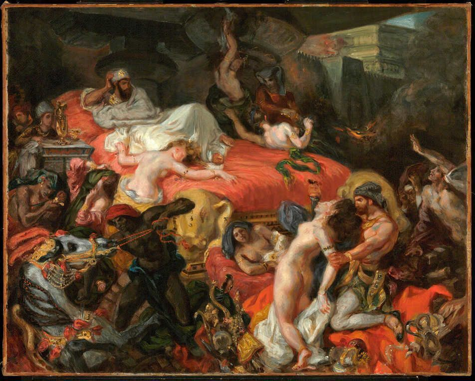 Eugène Delacroix, Der Tod des Sardanapal (reduzierte Kopie), 1846, Öl/Ln, 73.7 x 82.4 cm (© Philadelphia Museum of Art, Pennsylvania, The Henry P. McIlhenny Collection in memory of Frances P. McIlhenny, 1986 (1986-26-17)